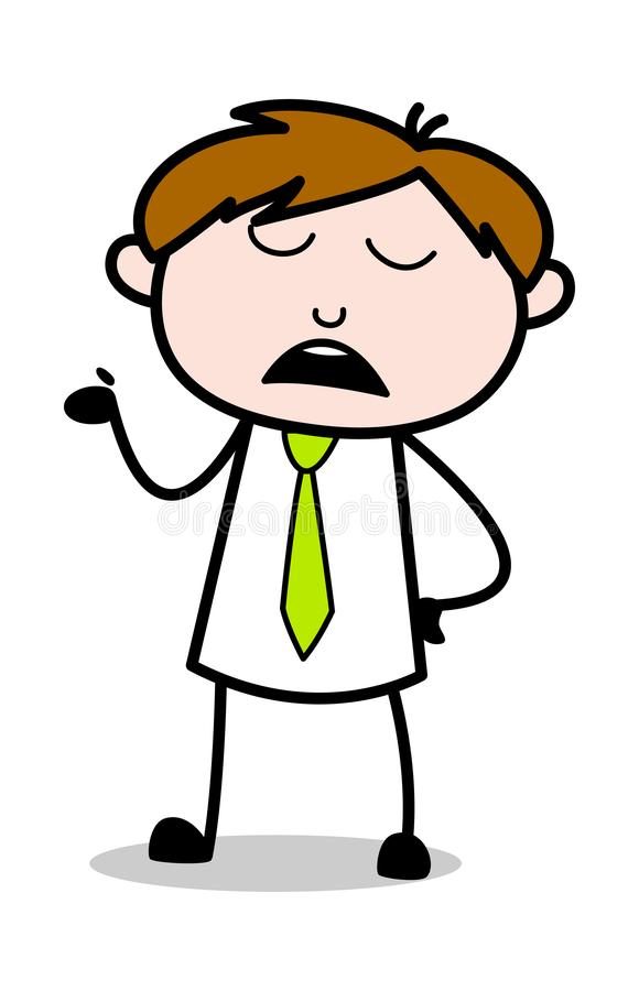 Talande gest med handen - kontorsrepresentantEmployee Cartoon Vector illustration vektor illustrationer
