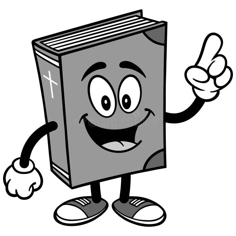 Talande illustration för bibelskolamaskot stock illustrationer