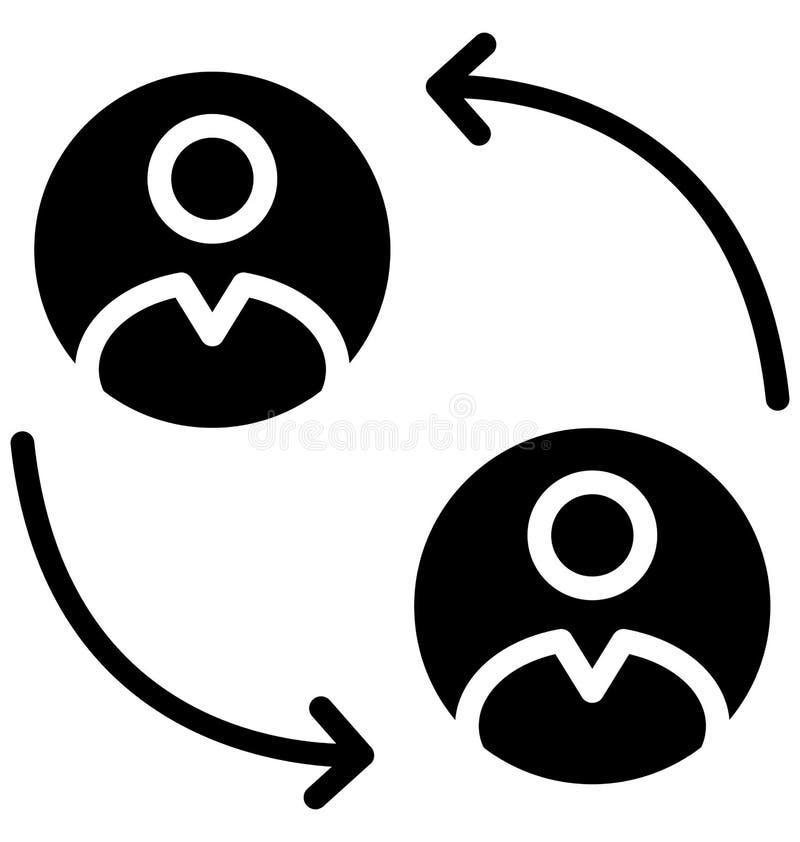 Talande isolerad vektorsymbol som kan lätt ändras eller redigeras royaltyfri illustrationer