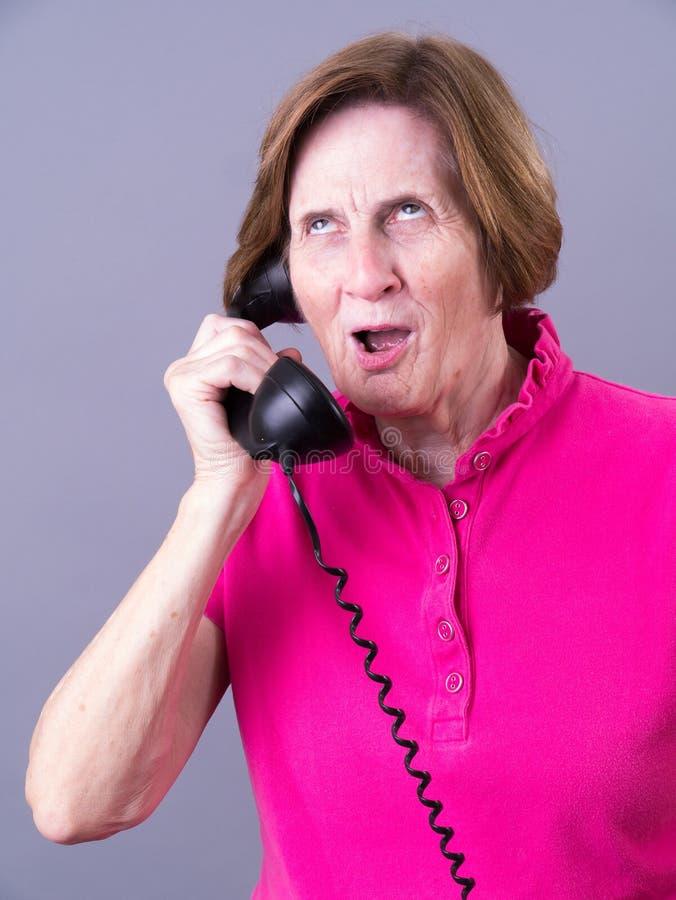 talande telefon royaltyfri bild