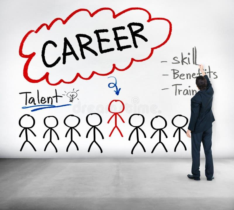 Talangen för karriärtalangexpertis drar nytta ockupationbegrepp royaltyfri bild