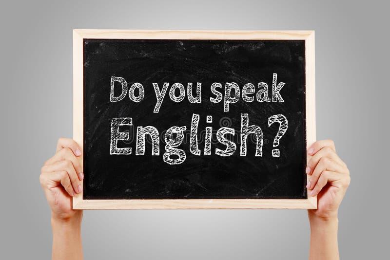 Talar du begrepp för engelskt språk royaltyfria foton