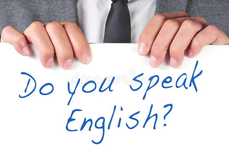Talar du engelska? arkivfoton