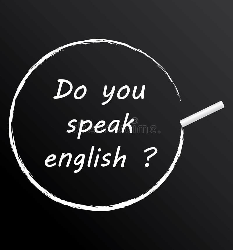 Talar du engelska? royaltyfri illustrationer