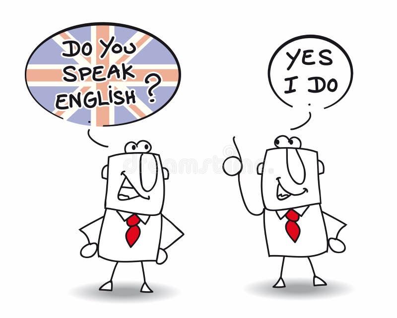 Talar du engelska stock illustrationer