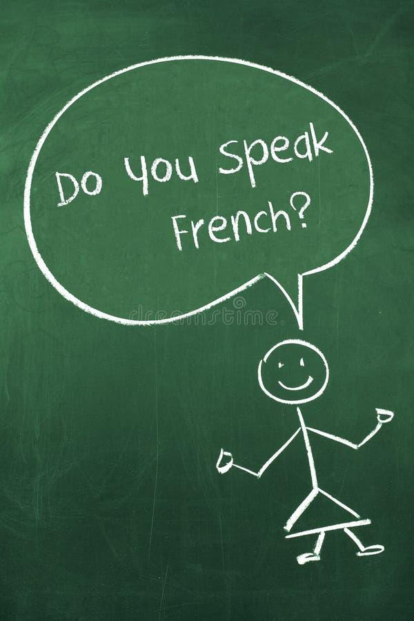 Talar du fransman arkivfoton