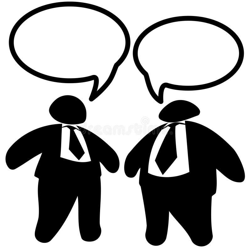 talar feta män för affärsledare två royaltyfri illustrationer