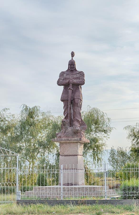 Talas del valle, Kirguistán - 15 de agosto de 2016: Monumento a Manas imágenes de archivo libres de regalías