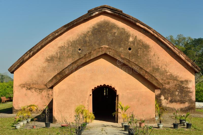The Talatal Ghar, Sivasagar, Assam India. The Talatal Ghar the grandest examples of Tai Ahom architecture located close the Sivasagar Town, Assam India stock images