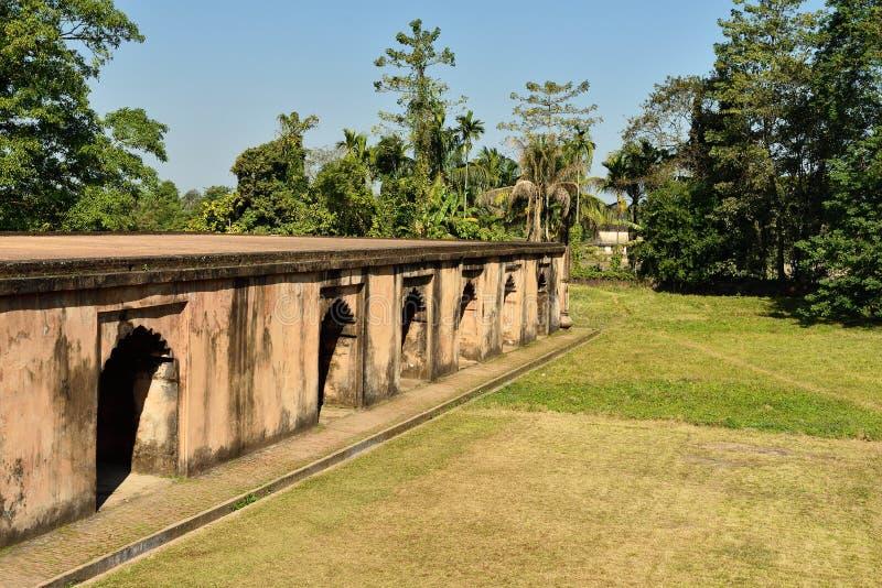 Talatalen Ghar, Sivasagar, Assam Indien royaltyfri bild