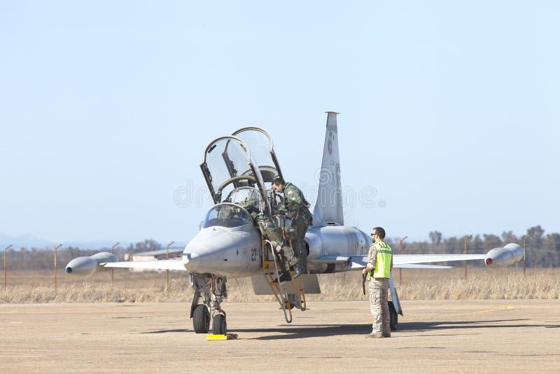 Talavera Echt La, Extremadura, militaire basis van het luchtleger royalty-vrije stock afbeeldingen