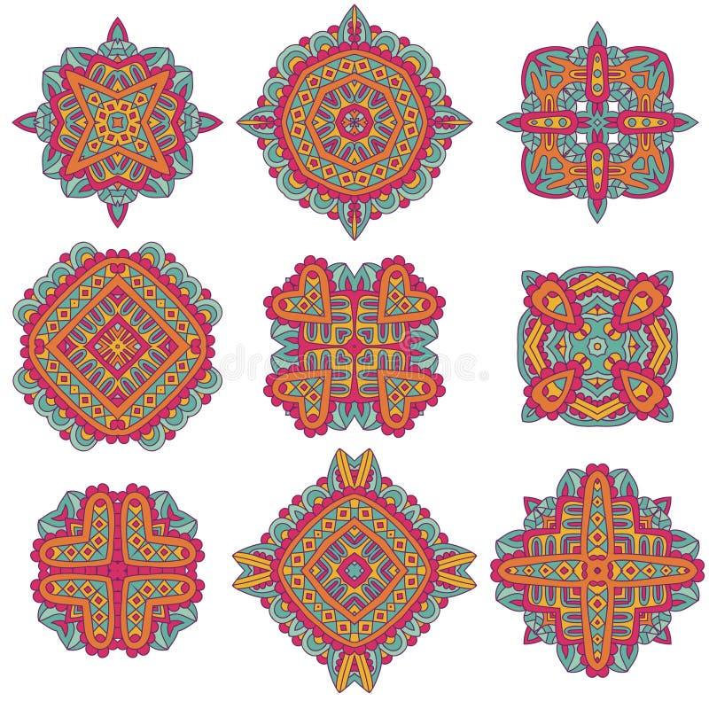 Talavera-Muster Azulejos Portugal Türkische Verzierung Marokkanisches Fliesen-Mosaik Keramisches Geschirr, Volkdruck stock abbildung