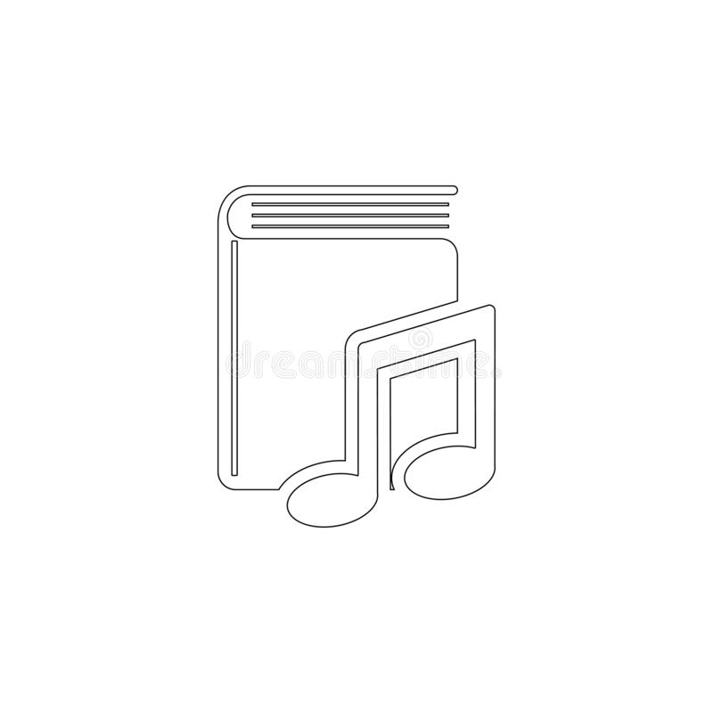 Talbok Plan vektorsymbol royaltyfri fotografi