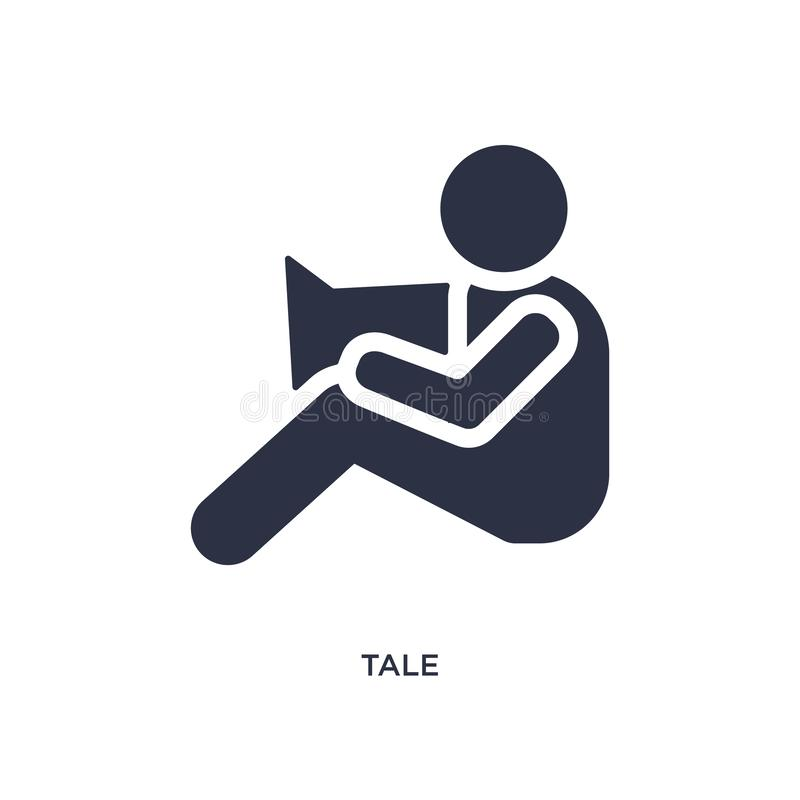 tale icon on white background. Simple element illustration from kid and baby concept stock illustration