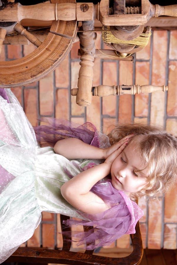 Tale of the sleeping princess stock photos