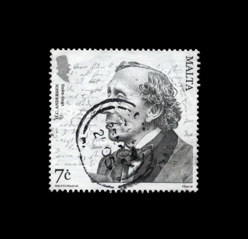 Hans Christian Andersen, tale writer, circa 2005, royalty free stock photo