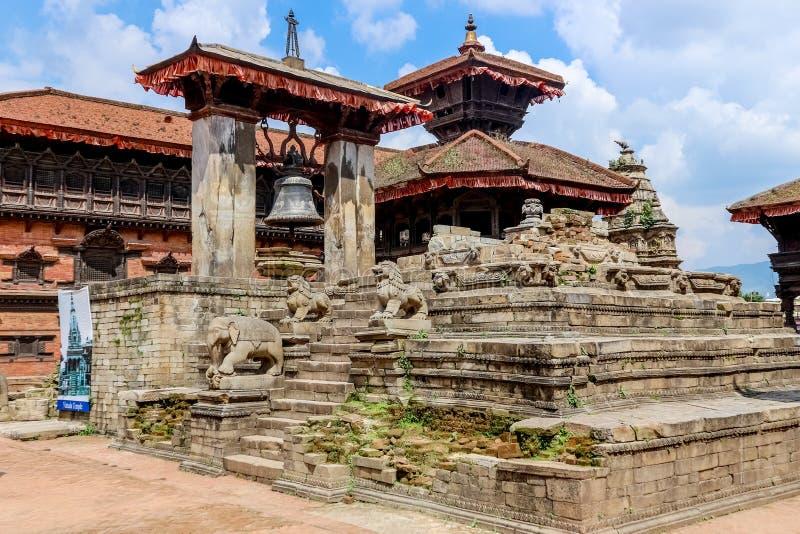 Taleju Bell no quadrado de Durbar, Kathmandu, Nepal fotografia de stock royalty free