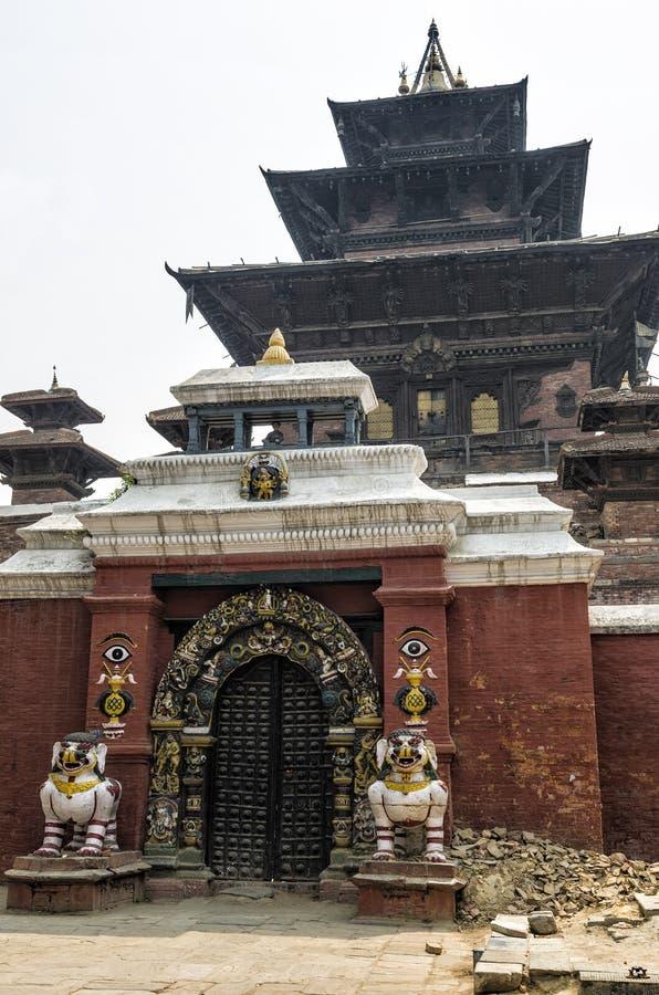 Taleju tempel i den Hanuman-Dhoka Durbar fyrkanten, Katmandu, Nepal arkivbilder