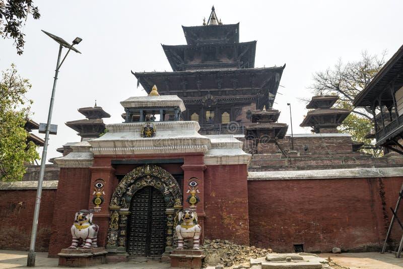 Taleju tempel i den Hanuman-Dhoka Durbar fyrkanten, Katmandu, Nepal royaltyfria foton