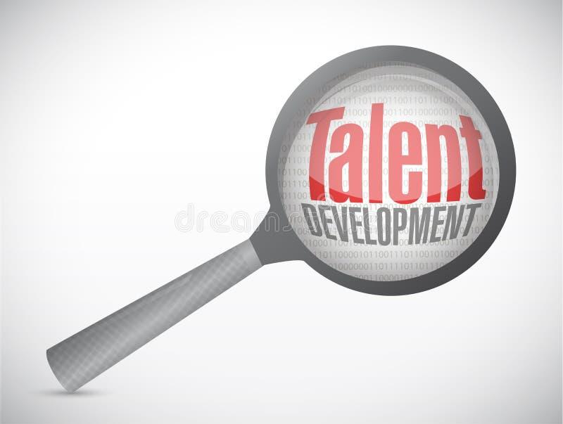 Talent development investigation concept. Illustration design over a white background stock illustration