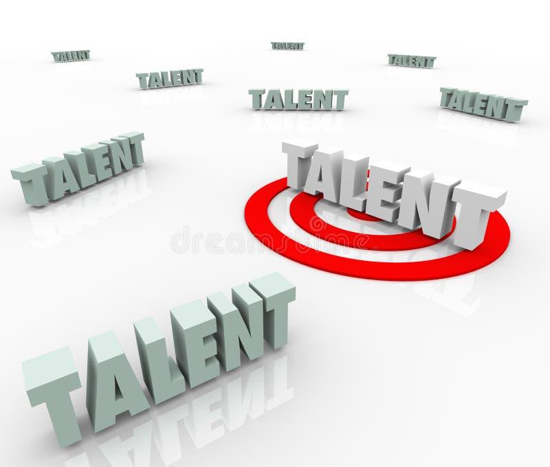 Talent die Job Prospects Skilled Workers Recruiting richten vector illustratie