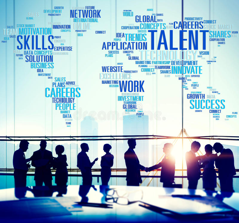 Talent Expertise Genius Skills Professional Concept.  royalty free stock photography