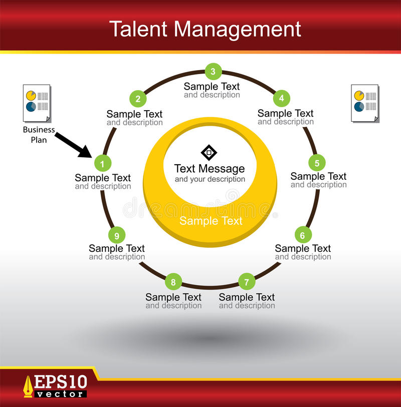 Talent Management. System for your project royalty free illustration