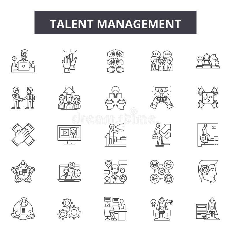 Talent management line icons, signs, vector set, linear concept, outline illustration. Talent management line icons, signs, vector set, outline concept, linear stock illustration