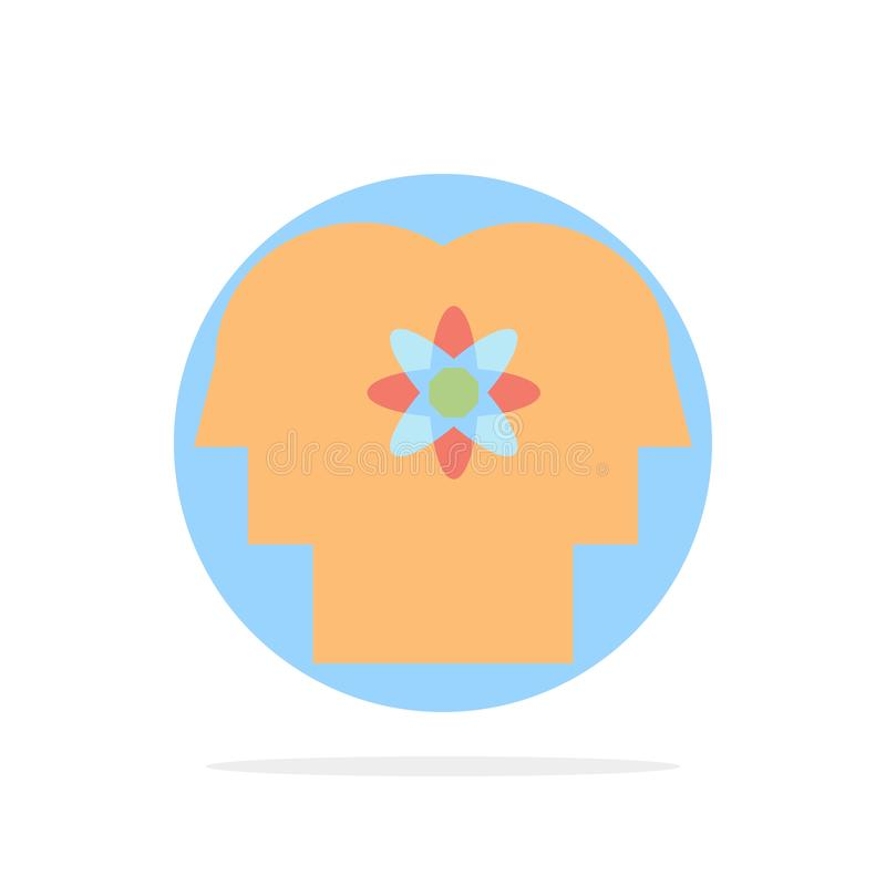 Talent, Mensch, Verbesserung, Management, flache Ikone Farbe Leute-des abstrakten Kreis-Hintergrundes lizenzfreie abbildung