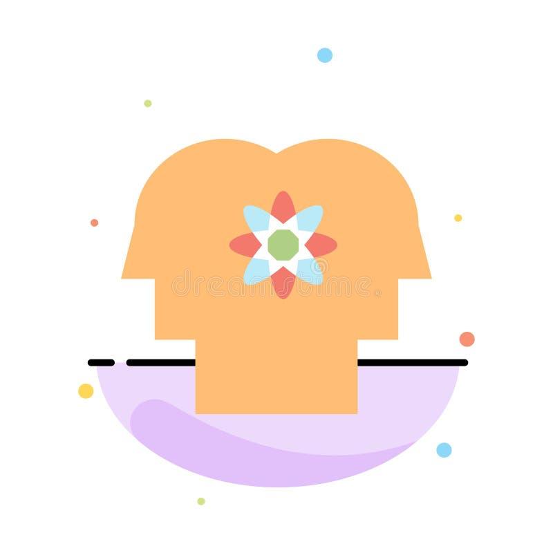 Talent, Mensch, Verbesserung, Management, Leute-abstrakte flache Farbikonen-Schablone vektor abbildung
