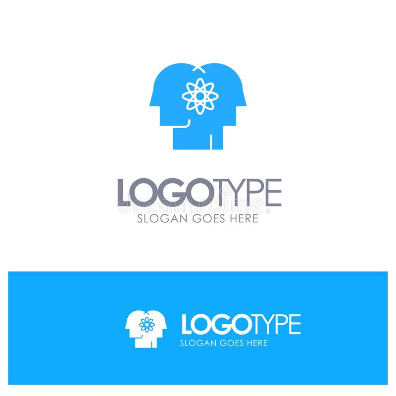 Talent, Mensch, Verbesserung, Management, Leute-blaues festes Logo mit Platz für Tagline stock abbildung