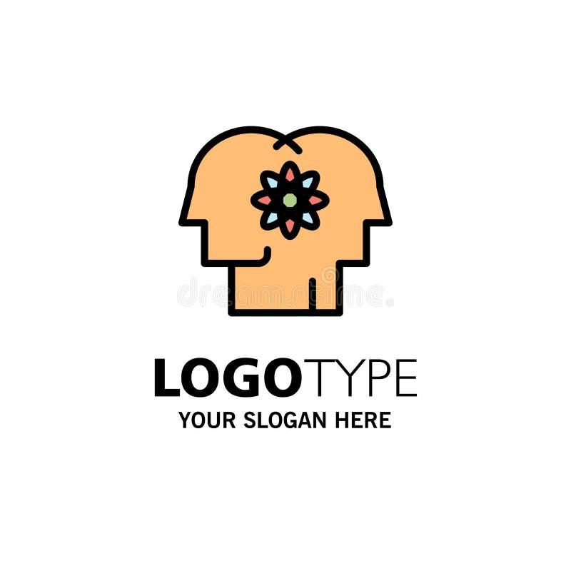 Talent, Mensch, Verbesserung, Management, Leute-Geschäft Logo Template flache Farbe vektor abbildung