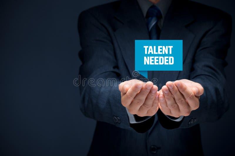 talent potrzebujący obrazy stock