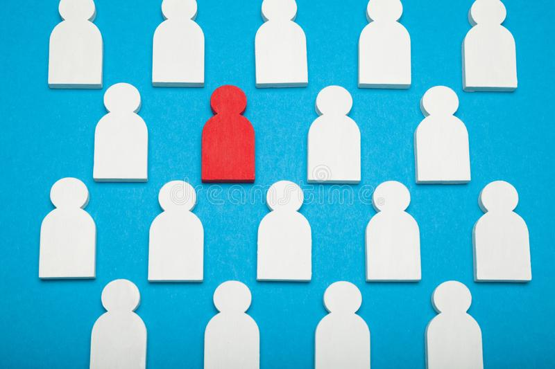 Talent resource, human manager. Find employee in glass, concept stock photography