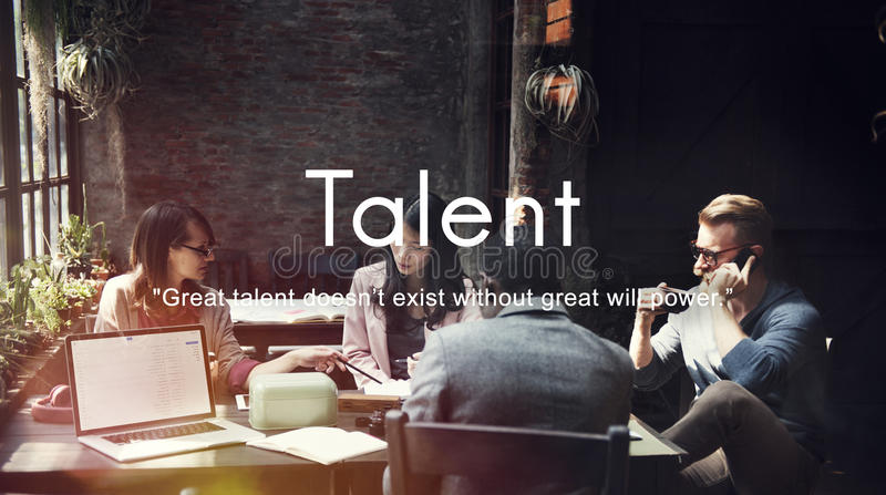 Talent Skills Abilities Expertise Professional Concept stock photos