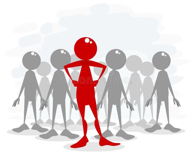 Talent van leider stock illustratie