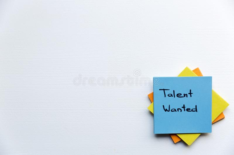 Talent Wanted, Business Concept. Sticky notes and words TALENT WANTED royalty free stock images