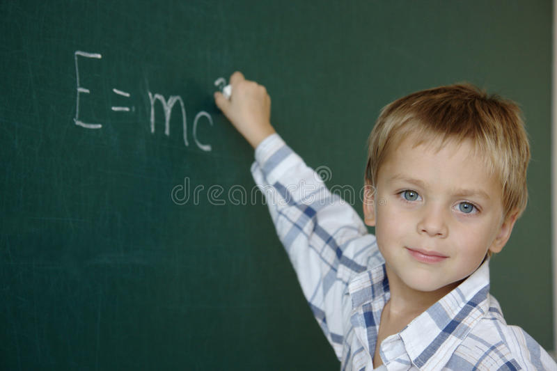 Talented child stock photo
