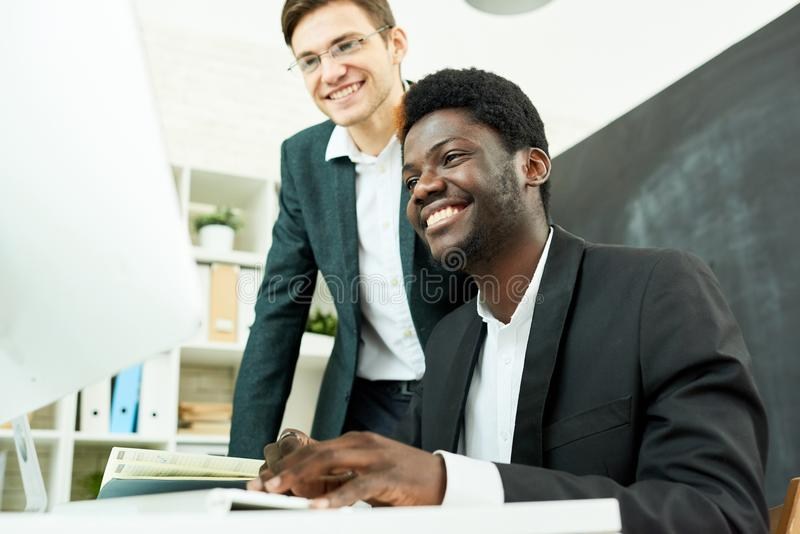 Talented Programmers Working Together stock photography