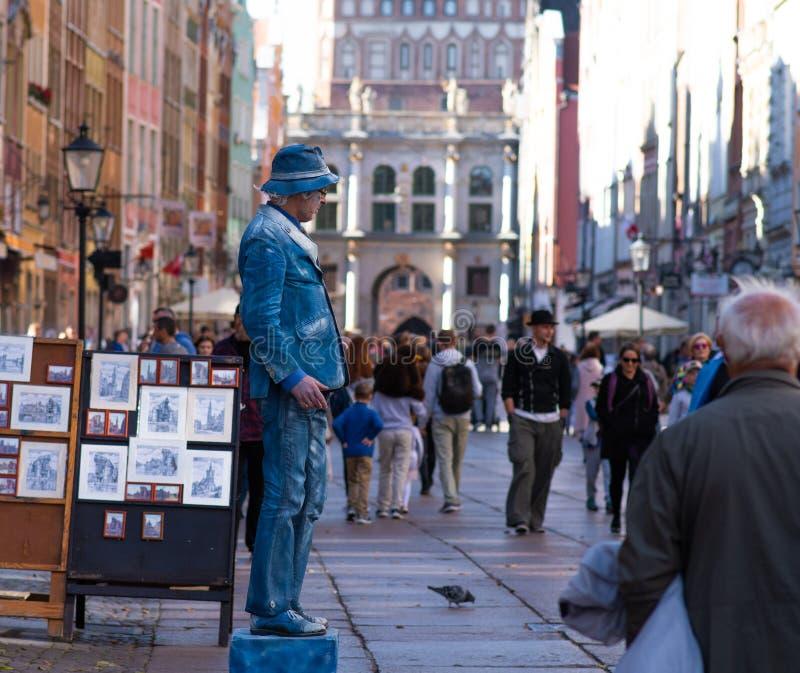 Talented street artists /Gdansk/Poland/September/2018 stock photography
