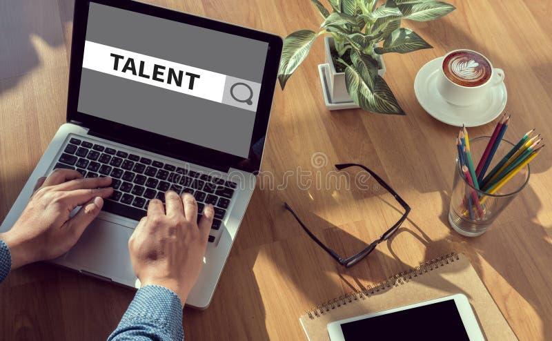 talentenconcept stock afbeelding