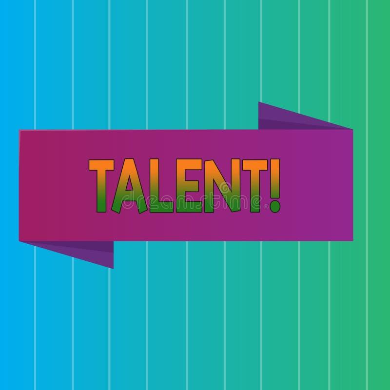Talento del texto de la escritura de la palabra El concepto del negocio para las capacidades naturales de mostrar la demostración ilustración del vector
