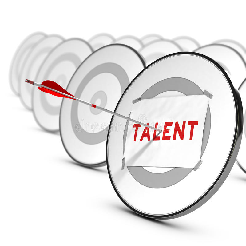 Talents Recruitment Concept royalty free illustration