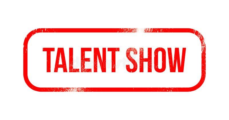 Talentshow - roter Schmutzgummi, Stempel vektor abbildung