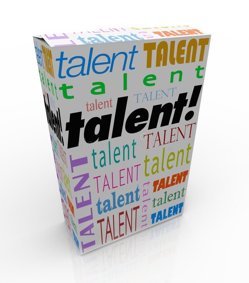 Talentu słowa produktu pudełka bubel Twój umiejętności Wprowadzać na rynek ilustracji