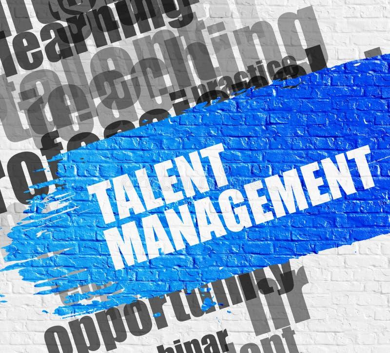 Talentu zarządzanie na Białym Brickwall ilustracja wektor