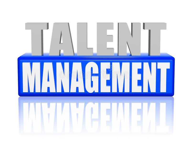 Talentu zarządzanie w 3d listach i bloku ilustracji