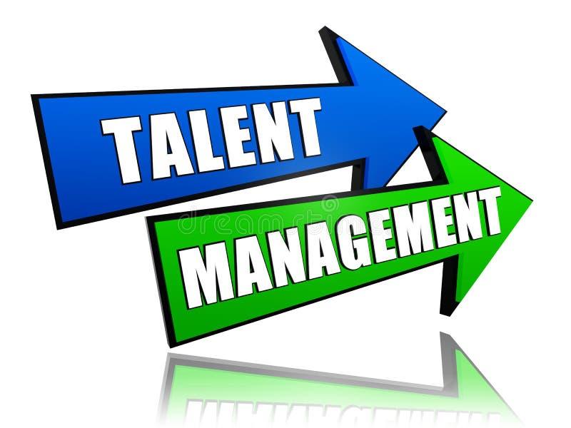 Talentu zarządzanie w strzała ilustracja wektor