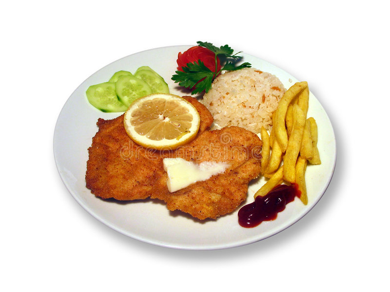 Download Talerz jedzenia obraz stock. Obraz złożonej z lunch, cebula - 135843