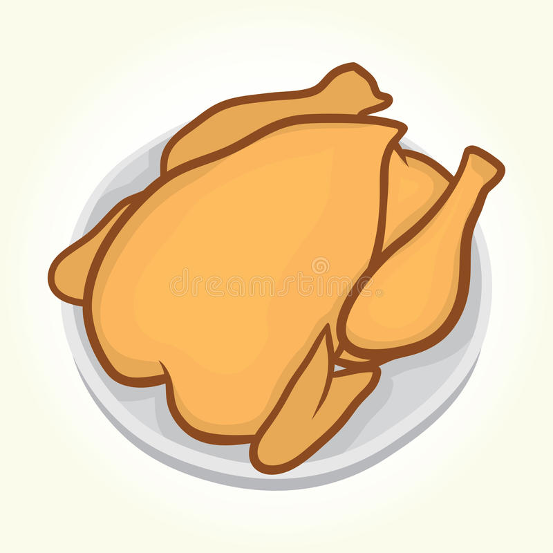 talerz kurczaka ilustracji